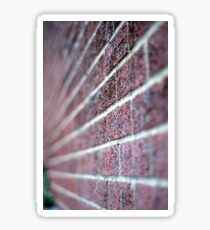 The wall. Perspective and DOF. Sticker