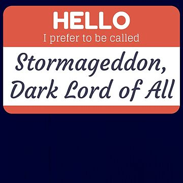 Stormageddon, Dark Lord of All by MaskMaster