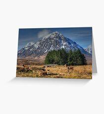 Buachaille Etive Mor, Glencoe, Scotland Greeting Card