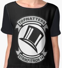 VFA-14 / VF-14 Tophatters Patch Women's Chiffon Top