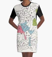 Three's a Crowd Graphic T-Shirt Dress