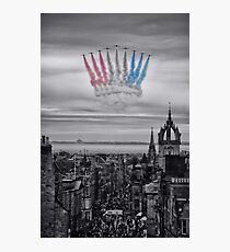 Red Arrows over Edinburgh Photographic Print
