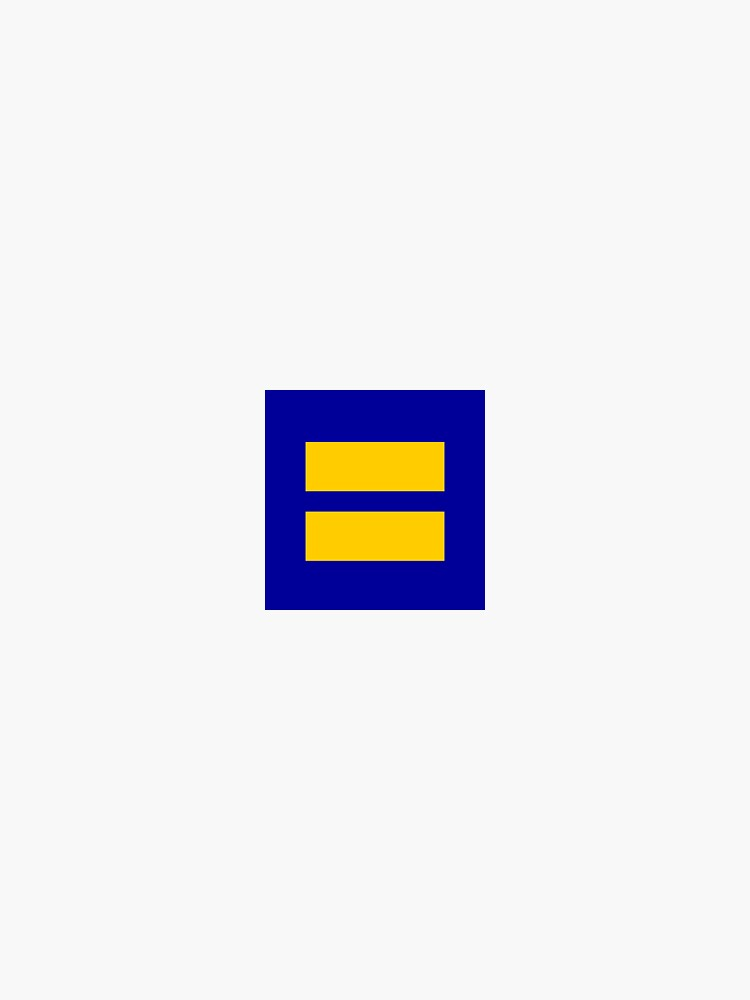 Human rights Campaign Equality Sticker by Sylvdesigns