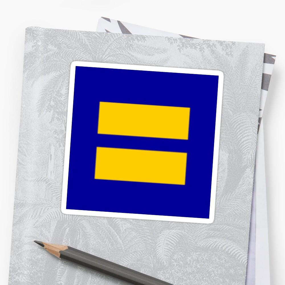 Etiqueta de Igualdad de la Campaña de Derechos Humanos Pegatinas