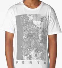 Perth Map Line Long T-Shirt