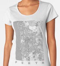 Perth Map Line Women's Premium T-Shirt