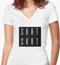 SKRT SKRT Graphic Women's Fitted V-Neck T-Shirt