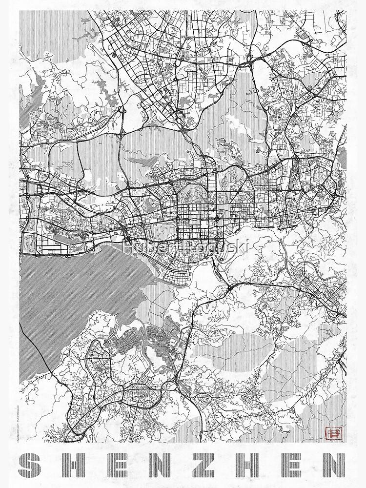 Shenzhen Map Line by HubertRoguski