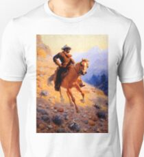 """William R Leigh Western Art """"Looking For Strays"""" T-Shirt"""