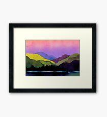 Serenity landscape 11  Watercolor  Framed Print