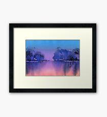 Serenity landscape 10  Watercolor  Framed Print