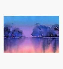 Serenity landscape 10  Watercolor  Photographic Print