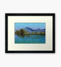 Serenity landscape 8  Watercolor  Framed Print