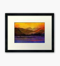 Serenity landscape 7  Watercolor  Framed Print