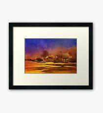 Serenity landscape 9  Watercolor  Framed Print
