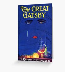 The Great Gatsby Print Greeting Card