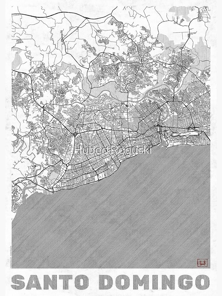 Santo Domingo Map Line by HubertRoguski