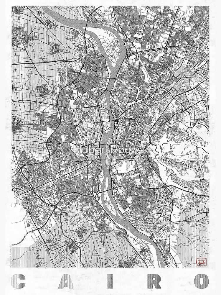 Cairo Map Line by HubertRoguski