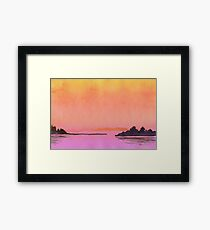 Serenity landscape 20  Watercolor  Framed Print