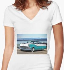 1956 Ford Crown Victoria I Women's Fitted V-Neck T-Shirt