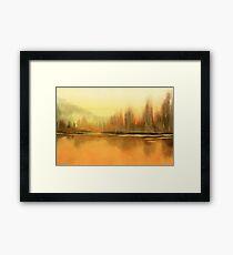 Serenity landscape 17  Watercolor  Framed Print