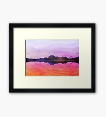 Serenity landscape 15  Watercolor  Framed Print