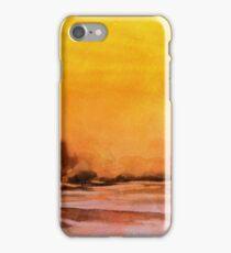 Serenity landscape 14  Watercolor  iPhone Case/Skin