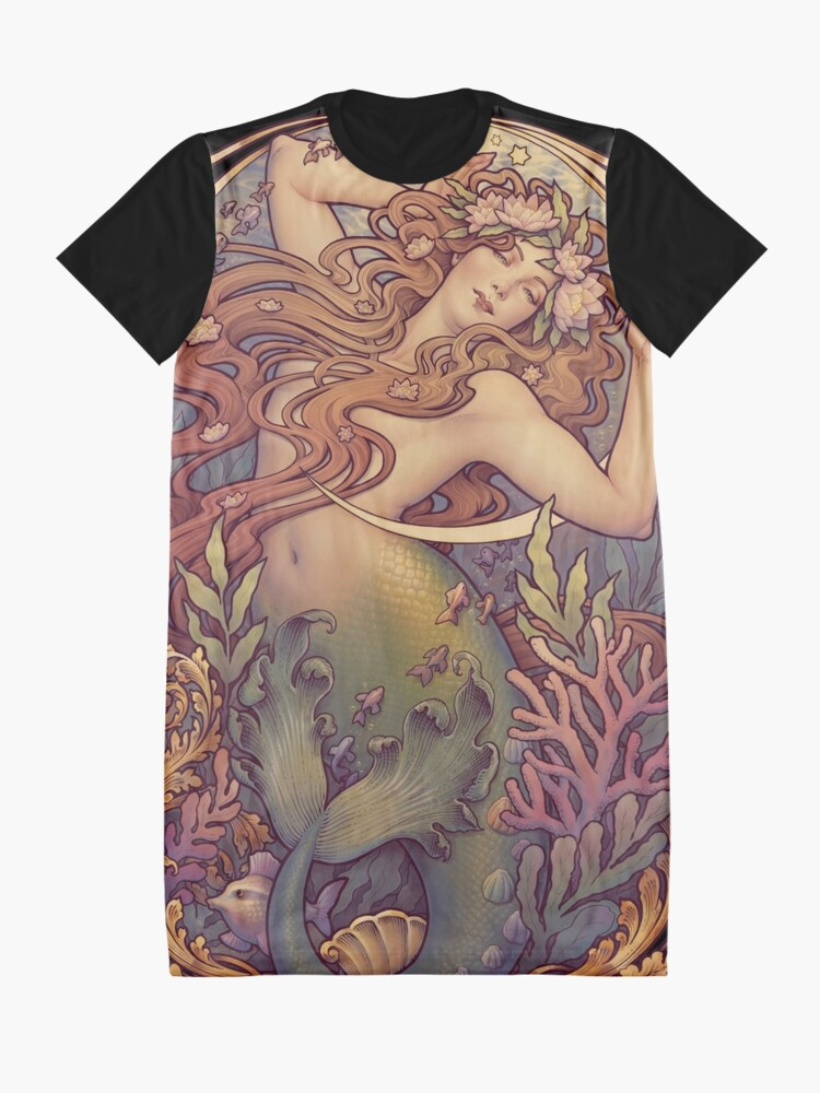 Alternate view of Andersen's Little Mermaid Graphic T-Shirt Dress