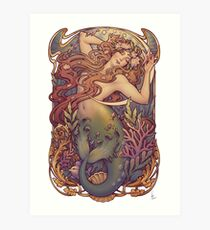 Andersen's Little Mermaid Art Print