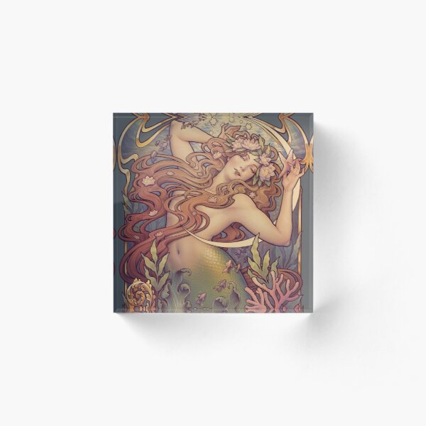 Andersen's Little Mermaid Acrylic Block