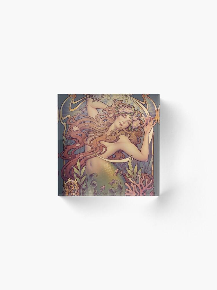 Alternate view of Andersen's Little Mermaid Acrylic Block