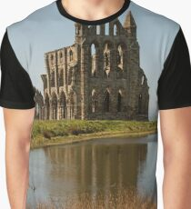 Whitby Abbey in Yorkshire Graphic T-Shirt