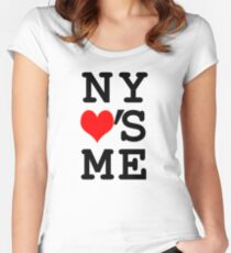 New York Loves Me Women's Fitted Scoop T-Shirt