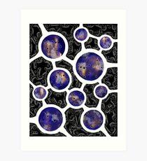 Inverted Ten of Microbes Art Print
