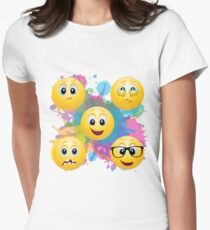 emojis Womens Fitted T-Shirt