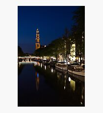 Amsterdam Blue Hour Photographic Print