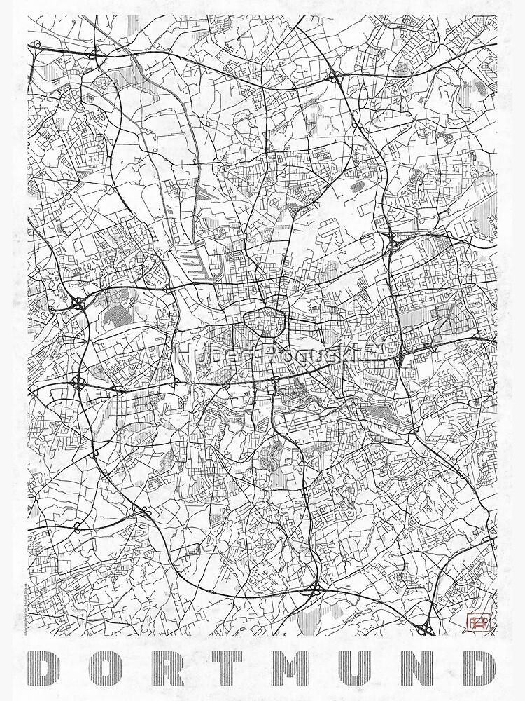 Dortmund Map Line by HubertRoguski
