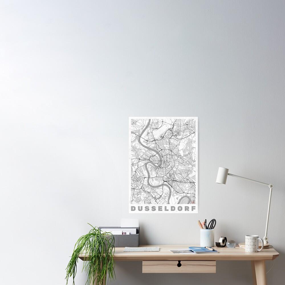Dusseldorf Map Line Poster