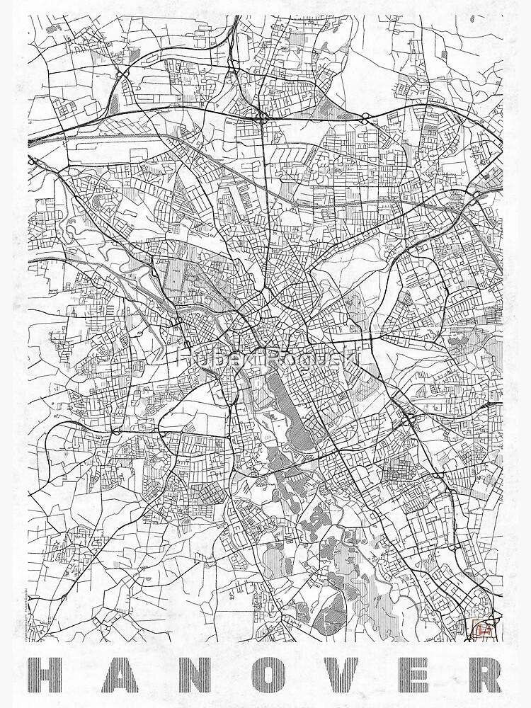 Hanover Map Line by HubertRoguski