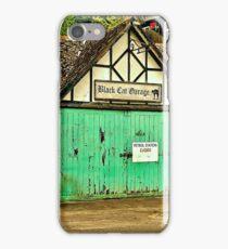 Black Cat Garage iPhone Case/Skin