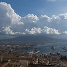 Cruising Into the Port of Naples, Italy by Georgia Mizuleva
