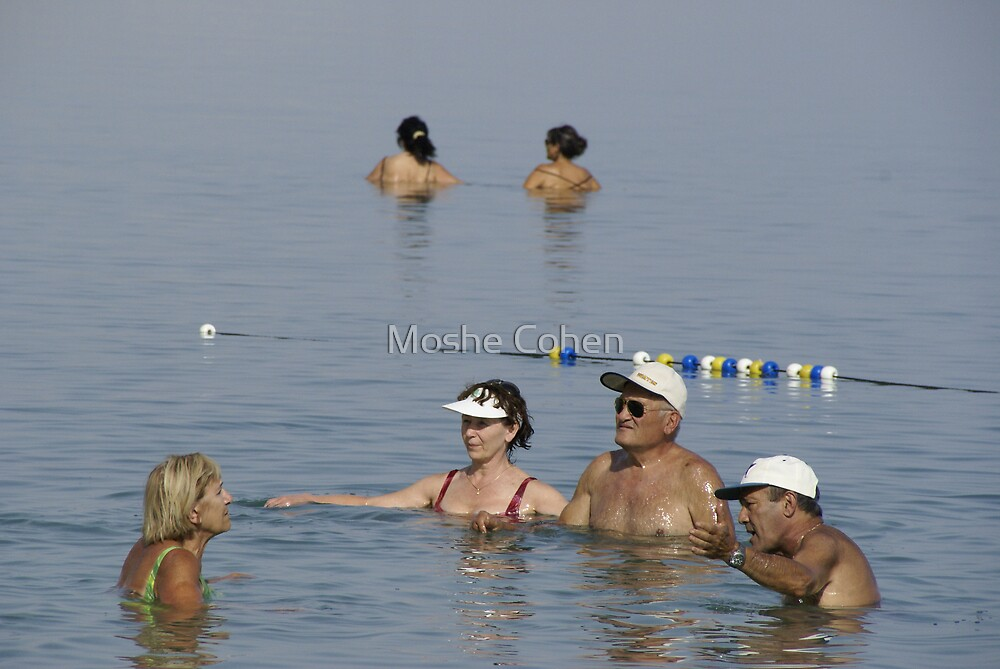 Dead Sea Bathing and Talking by Moshe Cohen