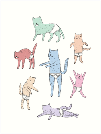 Cats in Underpants by Alan Gill
