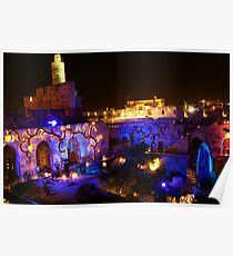 Tower of david with magic lights Poster