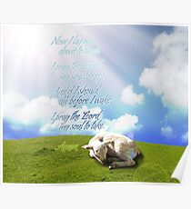 Now I lay me down to sleep - Bedtime Prayer Poster