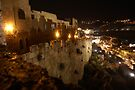 Jerusalem old city at night by Moshe Cohen