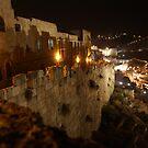 Jerusalem old city at night by Moshe Cohen