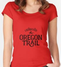Oregon Trail Survivor Women's Fitted Scoop T-Shirt