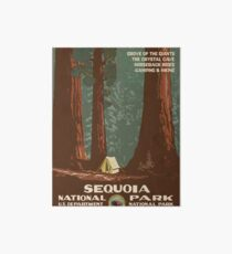 Sequoia National Park Vintage Travel Poster Art Board