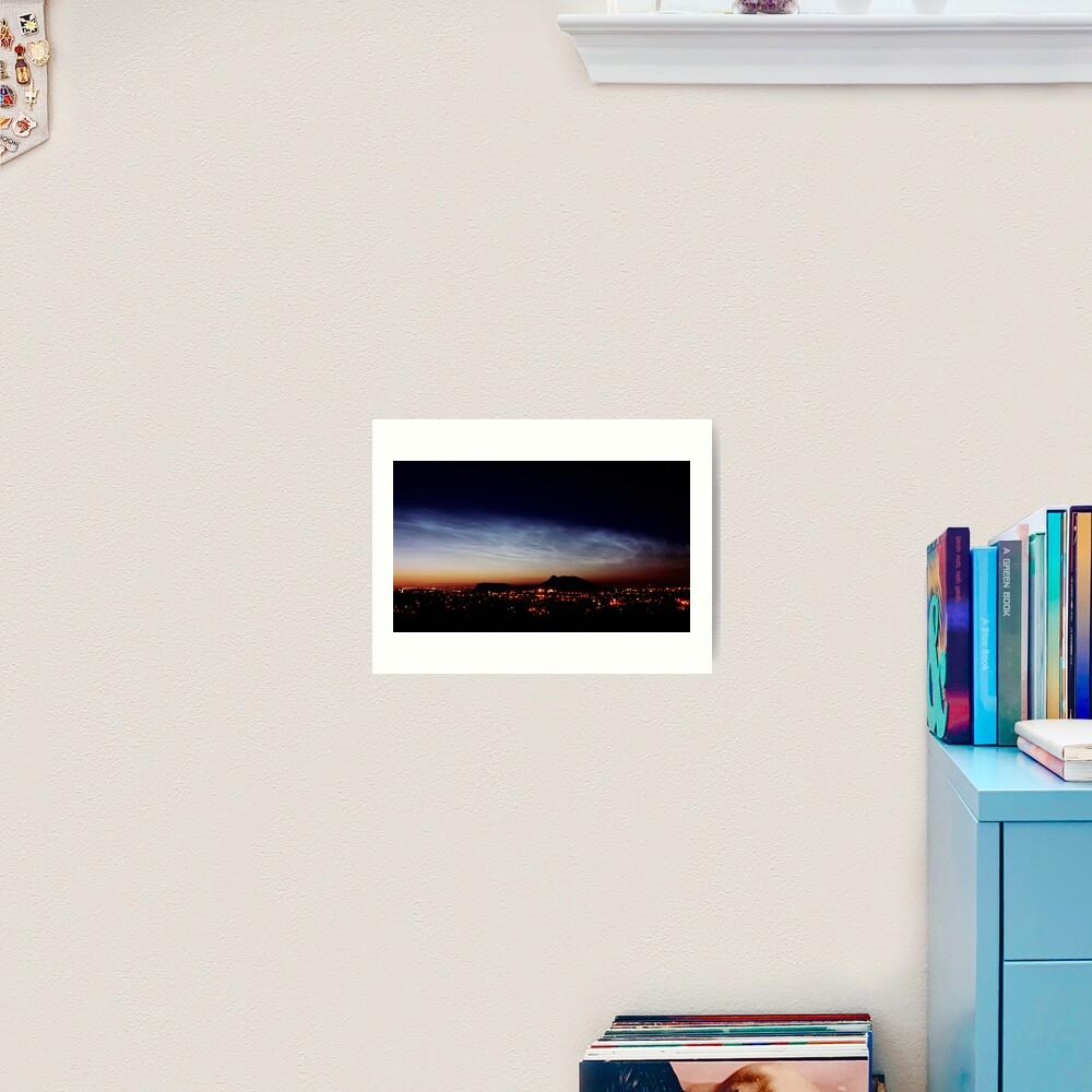 Noctilucent cloud over Arthur's Seat Art Print